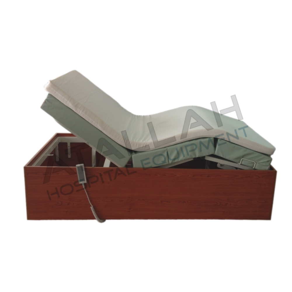 2-function Electric Bed - Wood