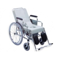 Commode Wheelchair - Padded Seat and Back