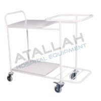 Clean/Dirty Linen Trolley with Shelves