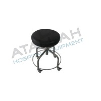 Stool Revolving - Manual With Foot Ring
