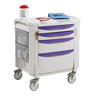 Crash Cart Trolley - 4 drawers METRO