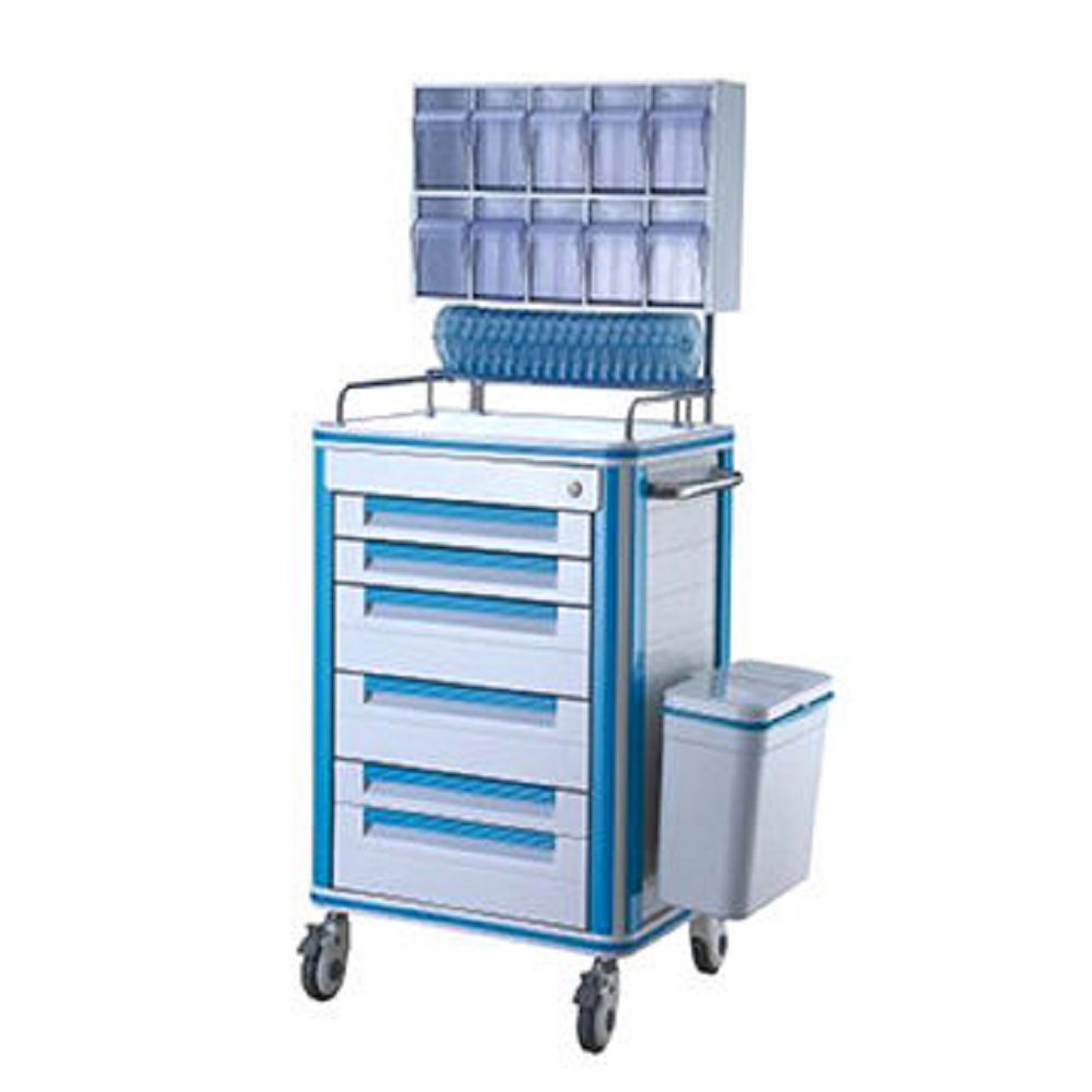 Drug Dispensary Trolley - 6 drawers with Medicine Box