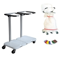 Soiled Linen Trolley - Double with Pedal