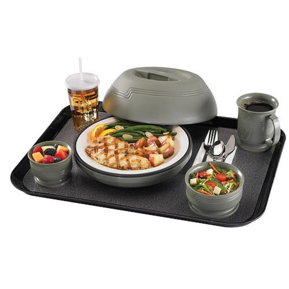 Meal Distribution Tray - Open With Dishes