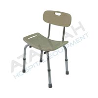 Shower Chair - Plastic seat with backrest
