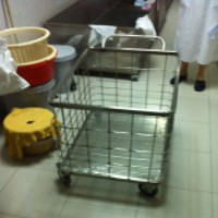 Dirty Linen Transport Trolley - Basket Shape