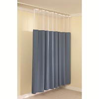 Cubicle Curtain Track with Mesh