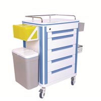 Crash Cart Trolley - 5 drawers