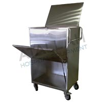 Laundry Collection Trolley with Opening Door Hydraulic