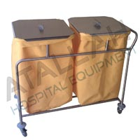 Soiled Linen Trolley - Double with Cover