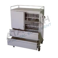 Dressing / Medication Trolley with Plastic Containers